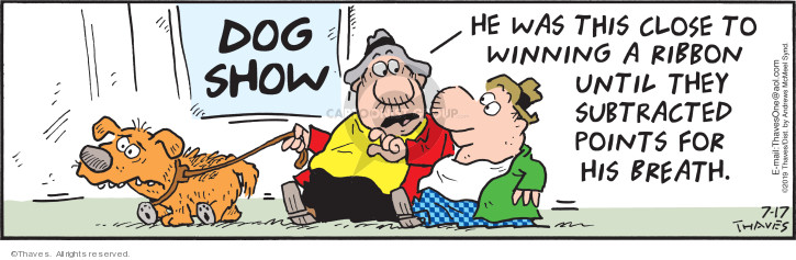 Cartoonist Bob Thaves Tom Thaves  Frank and Ernest 2019-07-17 dog