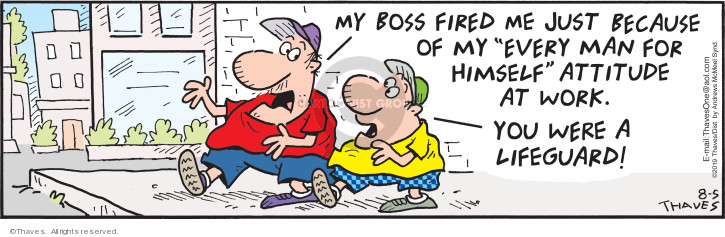 Cartoonist Bob Thaves Tom Thaves  Frank and Ernest 2019-08-05 unemployment