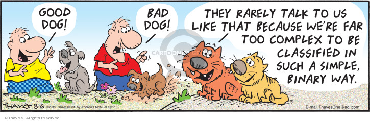 Cartoonist Bob Thaves Tom Thaves  Frank and Ernest 2019-08-06 bad behavior