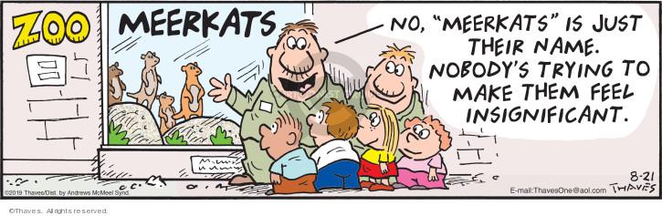 Comic Strip Bob Thaves Tom Thaves  Frank and Ernest 2019-08-21 behavior