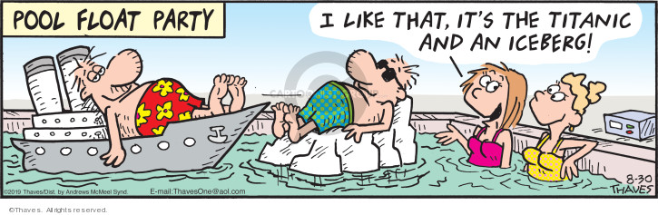 Comic Strip Bob Thaves Tom Thaves  Frank and Ernest 2019-08-30 pool