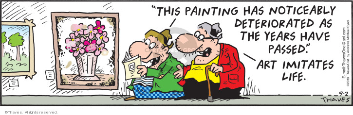Comic Strip Bob Thaves Tom Thaves  Frank and Ernest 2019-09-02 painting