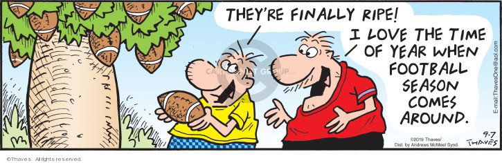 Cartoonist Bob Thaves Tom Thaves  Frank and Ernest 2019-09-07 football