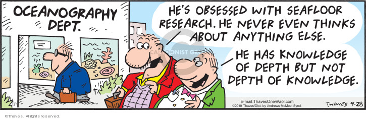 Comic Strip Bob Thaves Tom Thaves  Frank and Ernest 2019-09-28 university