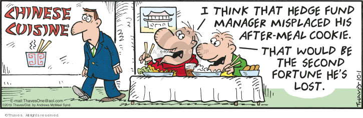 Comic Strip Bob Thaves Tom Thaves  Frank and Ernest 2019-10-01 food