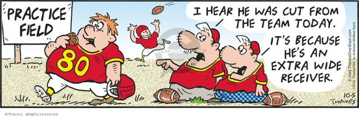 Comic Strip Bob Thaves Tom Thaves  Frank and Ernest 2019-10-05 football team