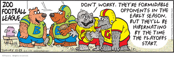 Cartoonist Bob Thaves Tom Thaves  Frank and Ernest 2019-10-25 football