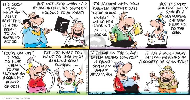 Comic Strip Bob Thaves Tom Thaves  Frank and Ernest 2019-10-27 golf