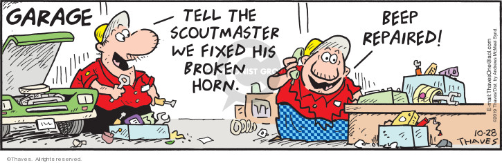 Comic Strip Bob Thaves Tom Thaves  Frank and Ernest 2019-10-28 auto mechanic