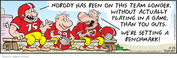 Comic Strip Bob Thaves Tom Thaves  Frank and Ernest 2019-11-15 football team