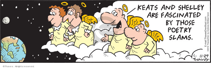 Cartoonist Bob Thaves Tom Thaves  Frank and Ernest 2019-11-29 heaven