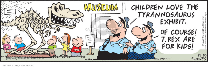 Comic Strip Bob Thaves Tom Thaves  Frank and Ernest 2019-12-10 museum exhibit