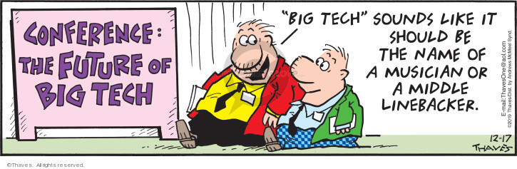 Comic Strip Bob Thaves Tom Thaves  Frank and Ernest 2019-12-17 linebacker