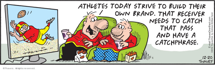 Comic Strip Bob Thaves Tom Thaves  Frank and Ernest 2019-12-20 football pass