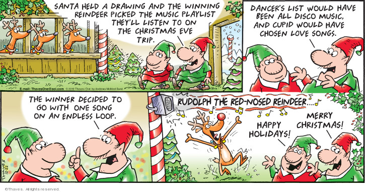 Comic Strip Bob Thaves Tom Thaves  Frank and Ernest 2019-12-22 claus
