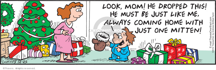 Comic Strip Bob Thaves Tom Thaves  Frank and Ernest 2019-12-25 claus