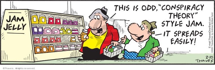 Comic Strip Bob Thaves Tom Thaves  Frank and Ernest 2020-02-10 food label