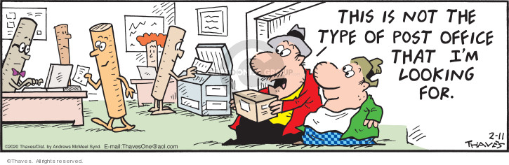 Cartoonist Bob Thaves Tom Thaves  Frank and Ernest 2020-02-11 mail