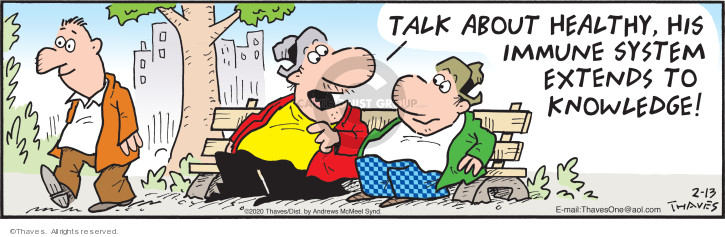 Comic Strip Bob Thaves Tom Thaves  Frank and Ernest 2020-02-13 ability