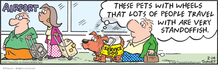 Cartoonist Bob Thaves Tom Thaves  Frank and Ernest 2020-02-14 dog