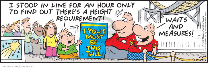 Comic Strip Bob Thaves Tom Thaves  Frank and Ernest 2020-02-29 measure