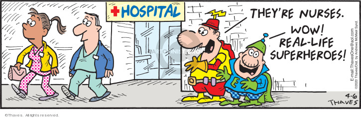 Comic Strip Bob Thaves Tom Thaves  Frank and Ernest 2020-04-06 medical