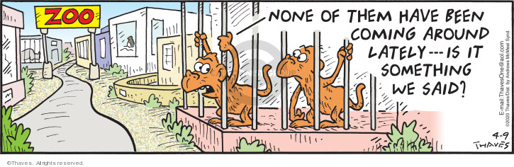 Comic Strip Bob Thaves Tom Thaves  Frank and Ernest 2020-04-09 animal