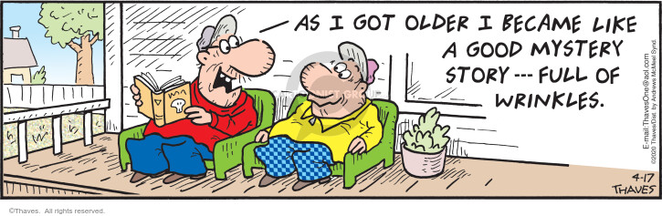 Comic Strip Bob Thaves Tom Thaves  Frank and Ernest 2020-04-17 old age