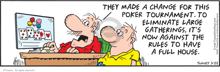 Comic Strip Bob Thaves Tom Thaves  Frank and Ernest 2020-05-22 online gambling
