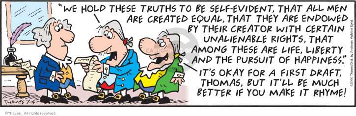 Comic Strip Bob Thaves Tom Thaves  Frank and Ernest 2020-07-04 truth