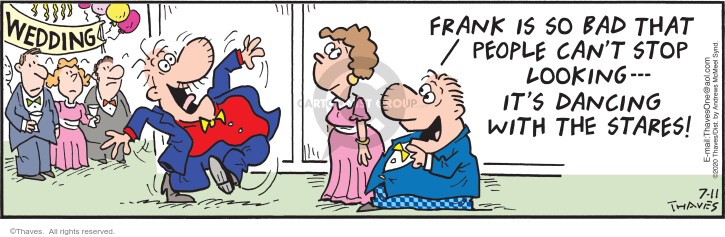 Comic Strip Bob Thaves Tom Thaves  Frank and Ernest 2020-07-11 wedding