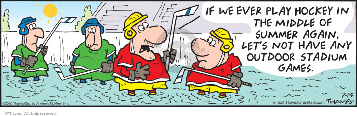 Comic Strip Bob Thaves Tom Thaves  Frank and Ernest 2020-07-14 hockey