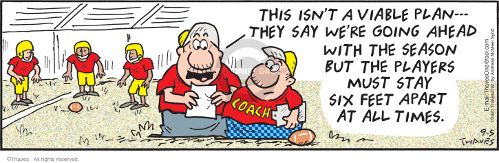 Comic Strip Bob Thaves Tom Thaves  Frank and Ernest 2020-09-05 football game