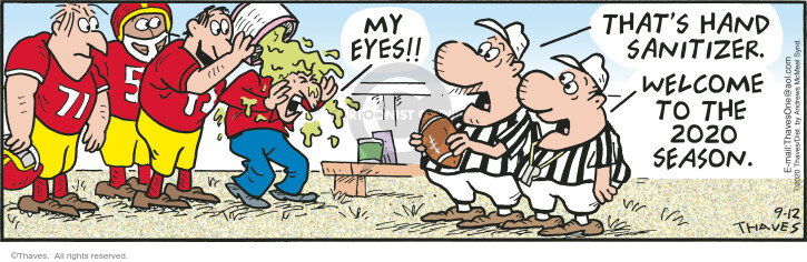 Comic Strip Bob Thaves Tom Thaves  Frank and Ernest 2020-09-12 player