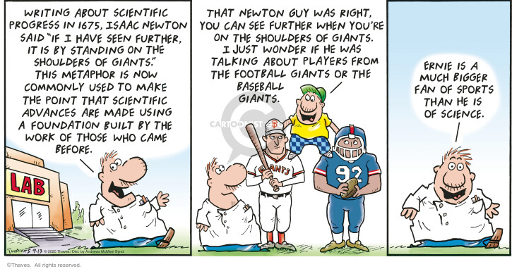 Comic Strip Bob Thaves Tom Thaves  Frank and Ernest 2020-09-13 player