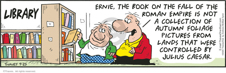 Comic Strip Bob Thaves Tom Thaves  Frank and Ernest 2020-09-25 empire