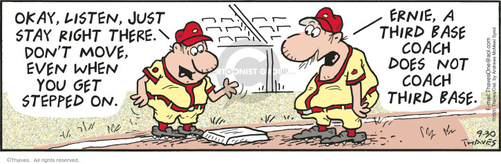 Comic Strip Bob Thaves Tom Thaves  Frank and Ernest 2020-09-30 baseball