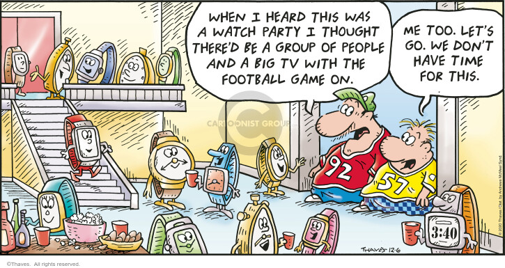 Comic Strip Bob Thaves Tom Thaves  Frank and Ernest 2020-12-06 football game