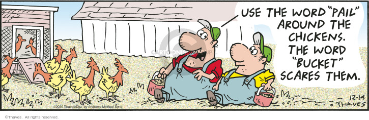 Comic Strip Bob Thaves Tom Thaves  Frank and Ernest 2020-12-14 fast food