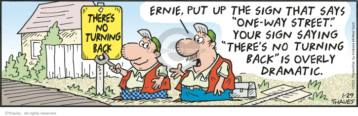 Comic Strip Bob Thaves Tom Thaves  Frank and Ernest 2021-01-29 saying
