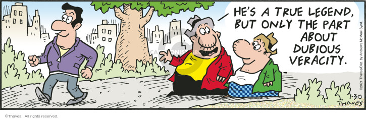 Comic Strip Bob Thaves Tom Thaves  Frank and Ernest 2021-01-30 but
