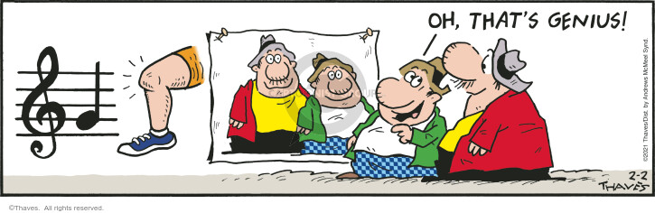 Comic Strip Bob Thaves Tom Thaves  Frank and Ernest 2021-02-02 strip