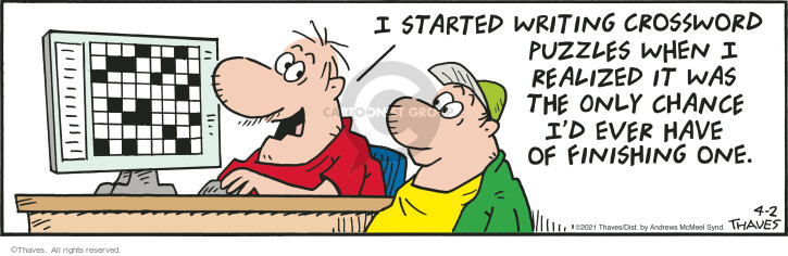 Comic Strip Bob Thaves Tom Thaves  Frank and Ernest 2021-04-02 strip