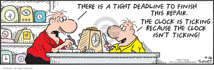 Comic Strip Bob Thaves Tom Thaves  Frank and Ernest 2021-04-16 Ernest
