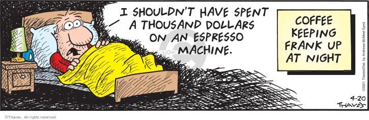 Comic Strip Bob Thaves Tom Thaves  Frank and Ernest 2021-04-20 Bob