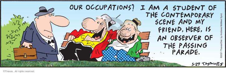 Comic Strip Bob Thaves Tom Thaves  Frank and Ernest 2021-05-29 observe
