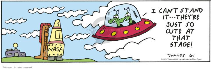 Comic Strip Bob Thaves Tom Thaves  Frank and Ernest 2021-06-01 alien