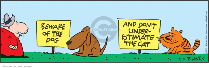 Comic Strip Bob Thaves Tom Thaves  Frank and Ernest 2021-06-03 behavior