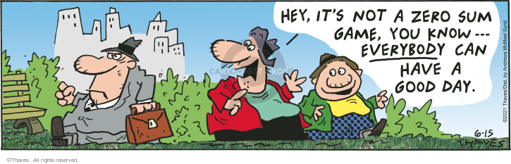 Comic Strip Bob Thaves Tom Thaves  Frank and Ernest 2021-06-15 everybody