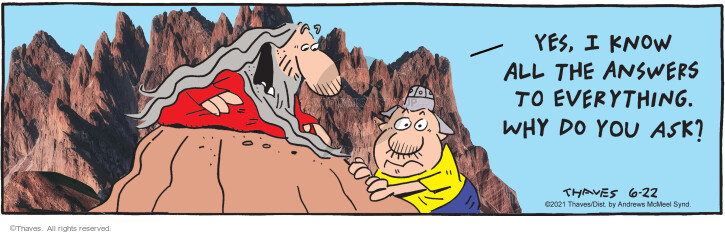 Comic Strip Bob Thaves Tom Thaves  Frank and Ernest 2021-06-22 all